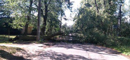 Gwałtowna burza przeszła nad powiatem