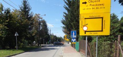 Urzędnicy: Piaskowa przejezdna od 1 września