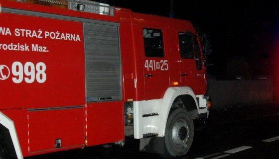 Nocny pożar w Mościskach