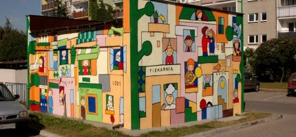 Nowy mural w centrum Grodziska jeszcze tej jesieni