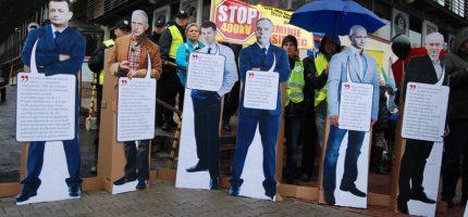 Protest przed siedzibą PiS i list do Jarosława Kaczyńskiego [FOTO]
