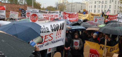 Znamy szczegóły kolejnego protestu przeciw 400 kV