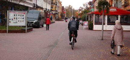 Ścieżki rowerowej na deptaku (na razie) nie będzie