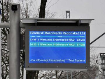 WKD startuje z nowym systemem informacji pasażerskiej