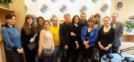 Gruzińscy radiowcy z wizytą w Grodzisku [FOTO]