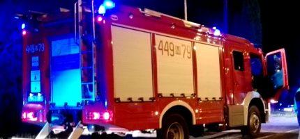 Nocny pożar w Milanówku