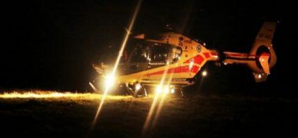 Wypadek w Bramkach. Dwie osoby ranne