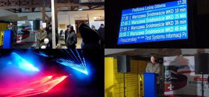 Inauguracja informacji pasażerskiej w świetle laserów [FOTO]