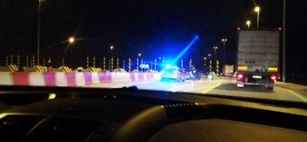 Wieczorna kolizja na autostradzie