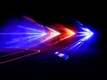 Inauguracja informacji pasażerskiej w świetle laserów