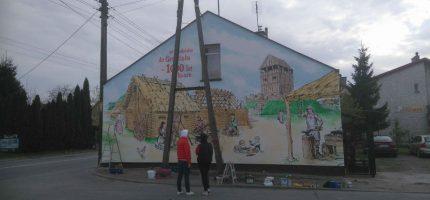 Nowy mural w Grodzisku! Przedstawia dzieje Słowian [FOTO]