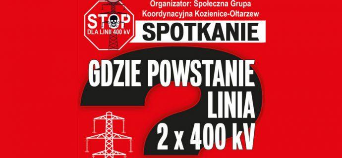 Strona społeczna kontra 400 kV – dziś kolejne spotkanie