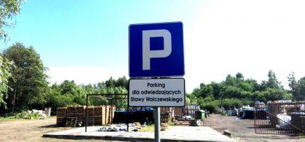 Zastępcze parkingi w pobliżu Stawów Walczewskiego