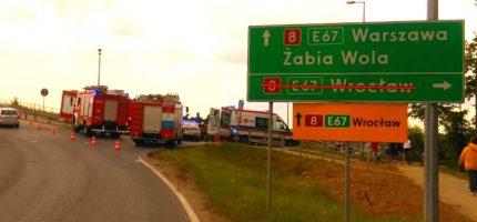 Wypadek w Józefinie. Motorowerzysta w szpitalu