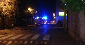 Wieczorny pożar na Kościuszki