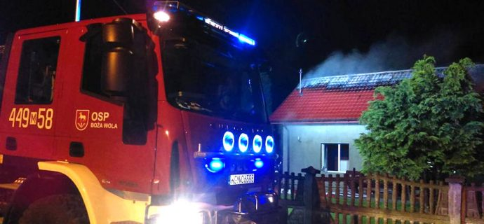 Nocny pożar budynku