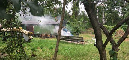 Palił odpady w pobliżu Stawów Walczewskiego