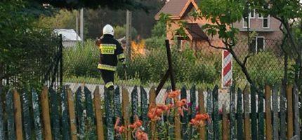 Pożar gazu z uszkodzonego rurociągu