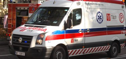 Wypadek na drodze 719. Kobieta w szpitalu