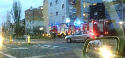 Poranna interwencja strażaków na Sienkiewicza, ogień w siedzibie ZUS