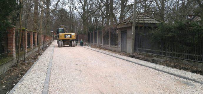 Inwestycje drogowe w Podkowie postępują