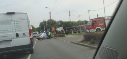 Kolizja na drodze 719, ford uderzył w słup