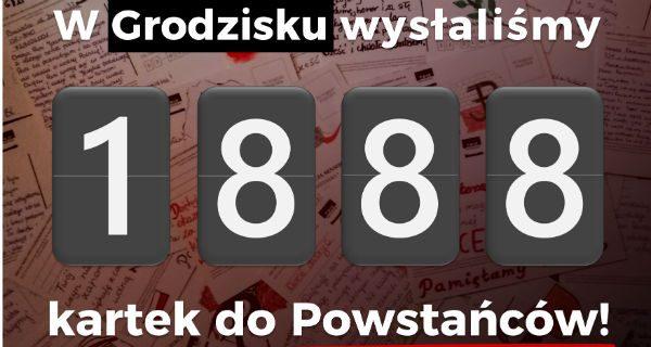 Wspólnie wysłaliśmy prawie 1900 kartek do Powstańców Warszawskich