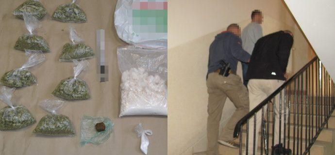 Uderzył w bariery na A2. W aucie miał kilogram narkotyków