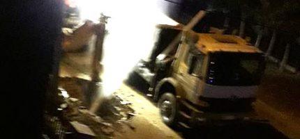 Uszkodzili gazociąg i wodociąg na Kieleckiej [VIDEO]