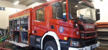 Nowy i nowoczesny wóz strażacki już w grodziskiej OSP [WIDEO]