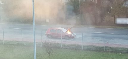 Pożar auta na Chrzanowskiej