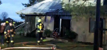 Poranny pożar domu w Grodzisku