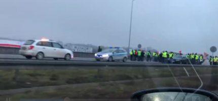 Protest na A2. Ogromne korki