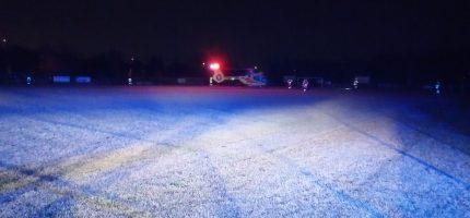 Nocne lądowanie śmigłowca LPR w Milanówku. Co się stało?