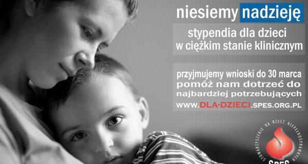 Stypendia dla ciężko chorujących dzieci