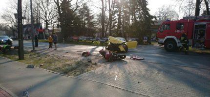 Wypadek na Królewskiej. Motocyklista w szpitalu