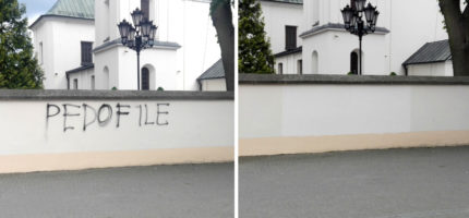 Akt wandalizmu na kościelnym murze [AKTUALIZACJA]