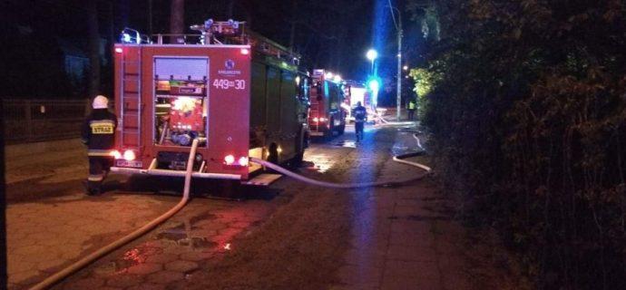 Policja zatrzymała mężczyznę mogącego mieć związek z podpaleniami w Milanówku