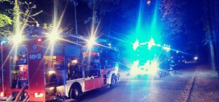 Poranny pożar w Milanówku