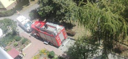 Akcja policji i straży pożarnej na Sienkiewicza