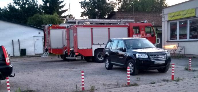 Wieczorny pożar na Warszawskiej