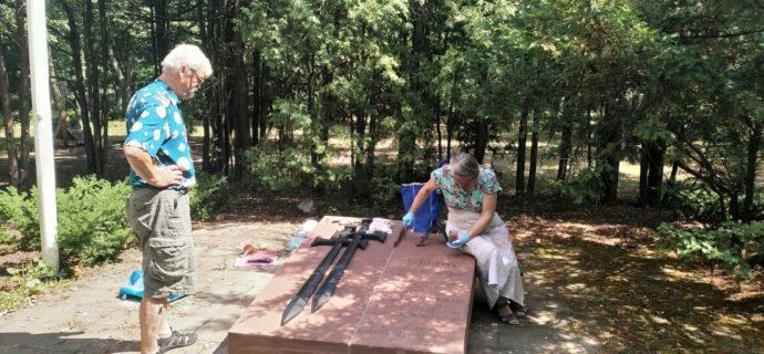 Remontują pomnik w Parku Przyjaźni Polsko-Wegierskiej [FOTO]