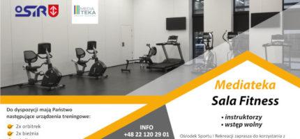 Bezpłatna sala fitness w Mediatece z nowym sprzętem