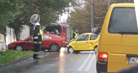 Wypadek w Milanówku. Utrudnienia na Kościuszki