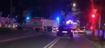 Groźny wypadek w Podkowie. Cztery osoby w szpitalu