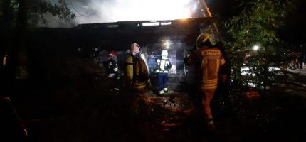 Wieczorny pożar w Milanówku [FOTO]