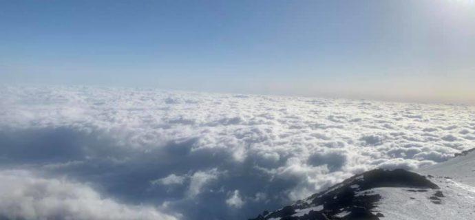 Grodziszczanin na szczycie świętej góry Fudżi