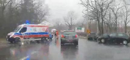 Zderzenie na granicy Milanówka i Brwinowa