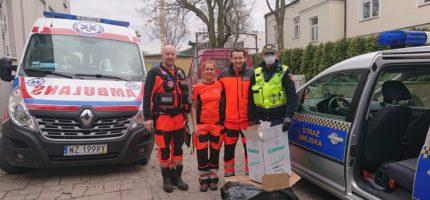 Kombinezony i maseczki trafiły do grodziskich ratowników