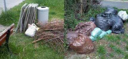 """Podrzucają odpady do ulicznych śmietników. """"Wszyscy za to dodatkowo płacimy!"""""""